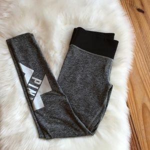 VS PINK Heather Gray SIlver Yoga Pant leggings S